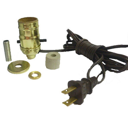 "BRASS BOTTLE KIT 1"" GOLD CORD"