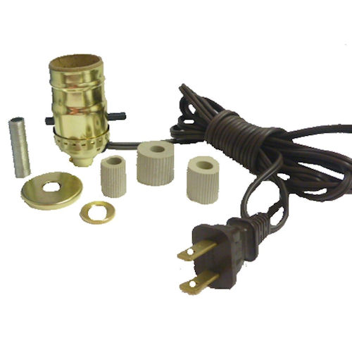 BRASS BOTTLE KIT W/3 ADAPTERS-B