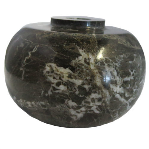 DARK GREEN OVAL MARBLE 3 1/8""