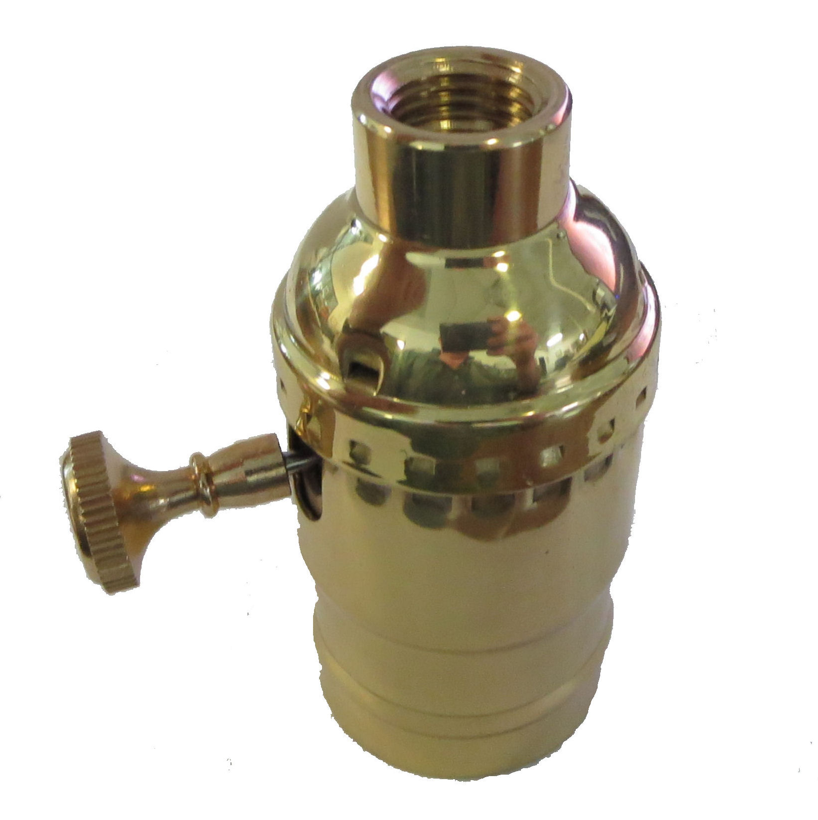 """3//8/"""" TR-426NT SOLID BRASS 3-WAY SOCKET WITH 1//8 IPS HOLE"""