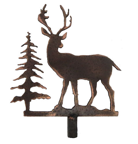 METAL DEER LAMP SHADE FINIAL