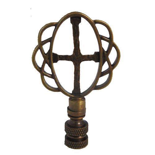 CROSS AB LAMP SHADE FINIAL