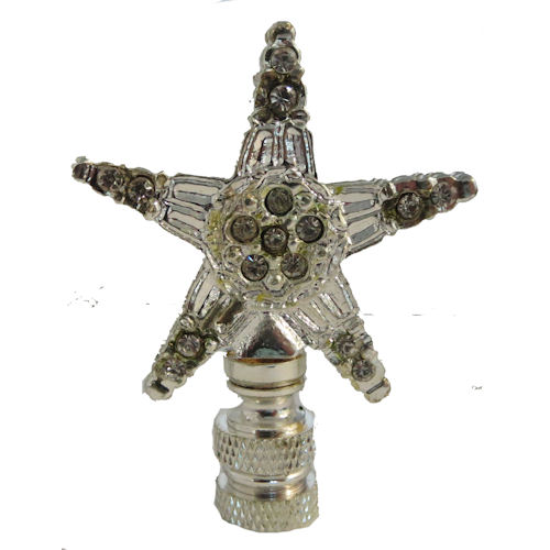 STAR NICKEL-PLATED LAMP SHADE FINIAL *C-O*