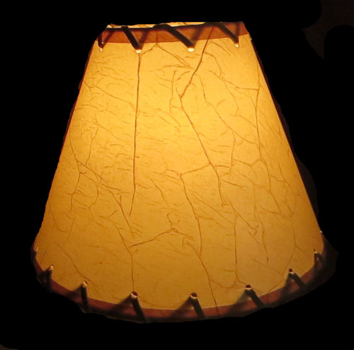 "9"" CRACKLE LACED LAMP SHADE W/REGULAR CLIP"