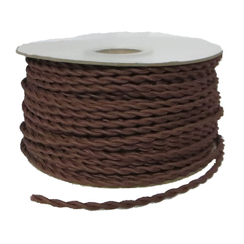 TWISTED BROWN RAYON WIRE