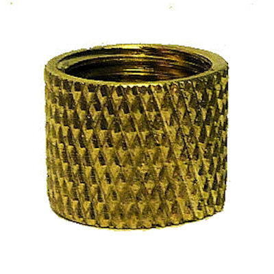 UNFIN BRASS KNURLED COUPLING