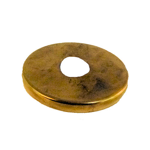 """AS IS"" 1 1/2"" BRASS-PLATED CHECK RING"