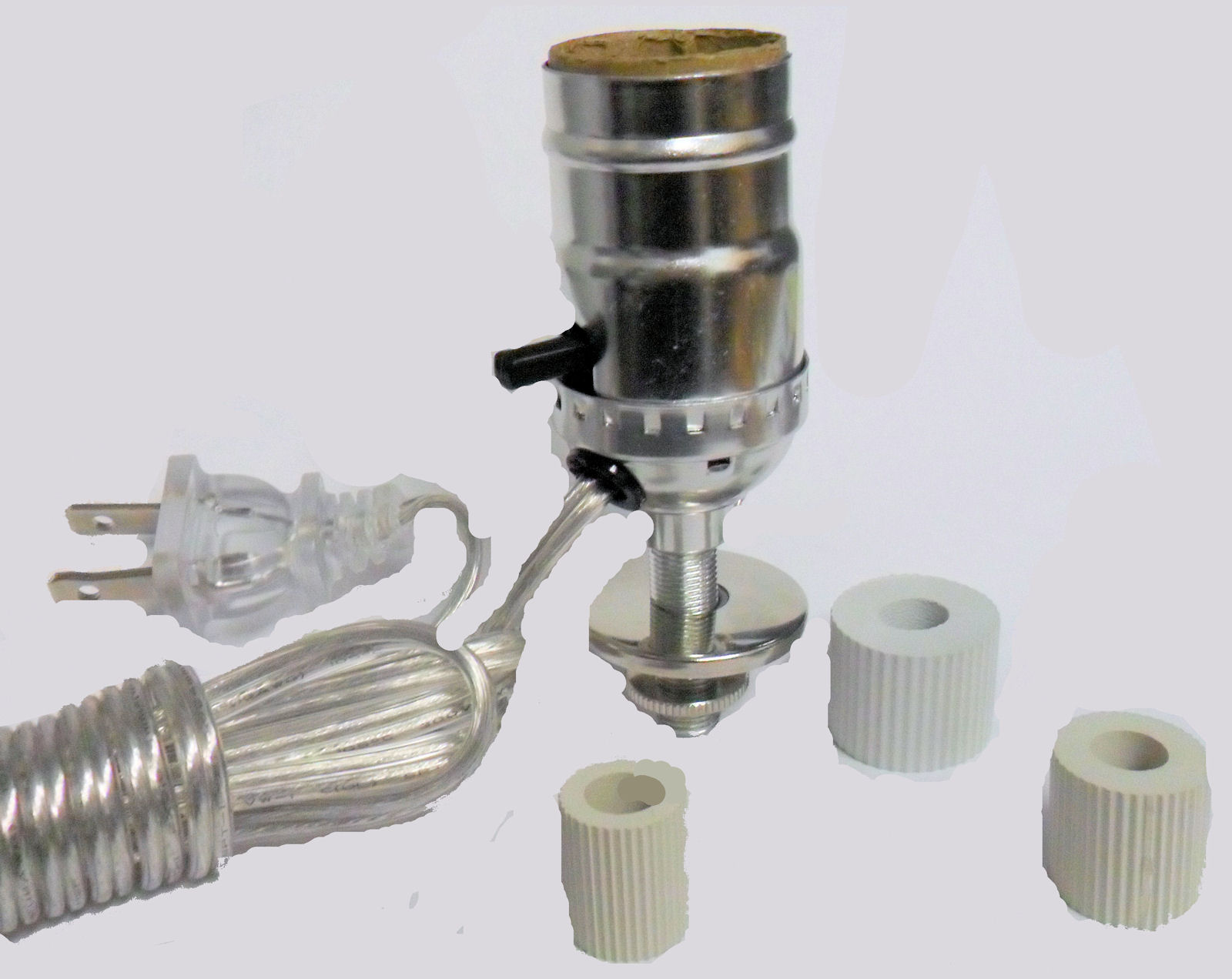 SILVER BOTTLE KIT- SILVER CORD W/ 3 ADAPTERS