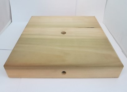 "10""X10"" UNFINISHED SQURE WOODEN BASE"