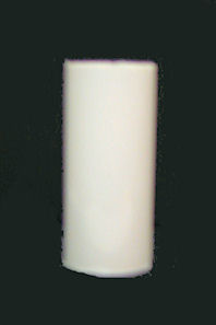 WHITE PLASTIC CANDLE-BASED CC