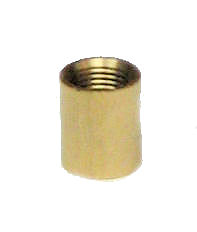 PLAIN UNFIN BRASS COUPLING