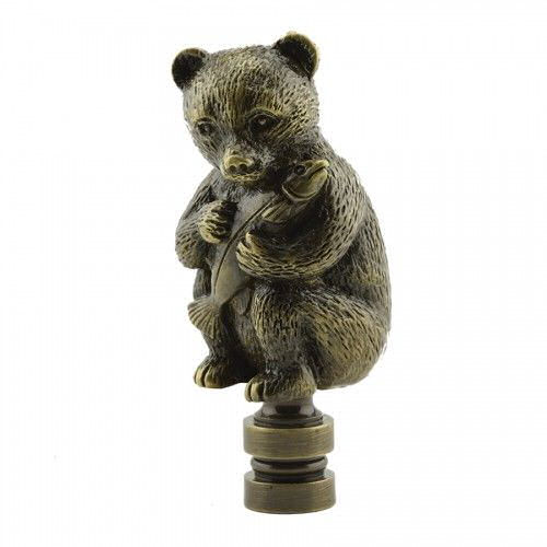 ANTIQUE BEAR WITH FISH