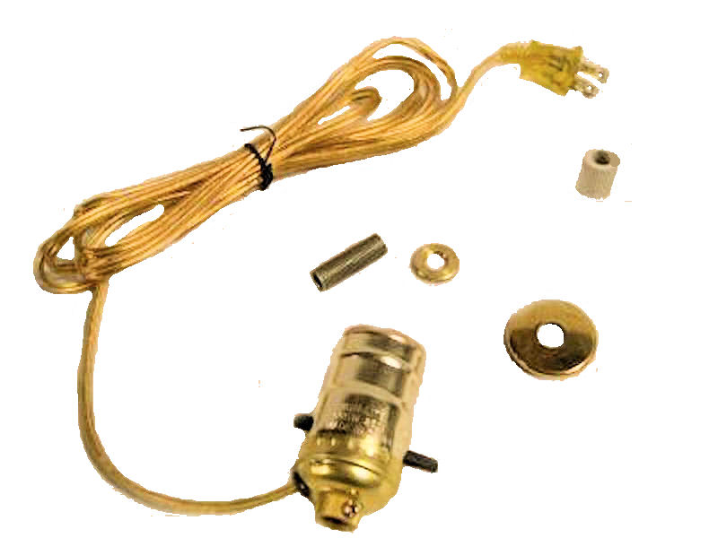 "BRASS BOTTLE KIT 5/8"" GOLD CORD"