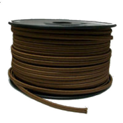 BROWN FLAT RAYON LAMP WIRE