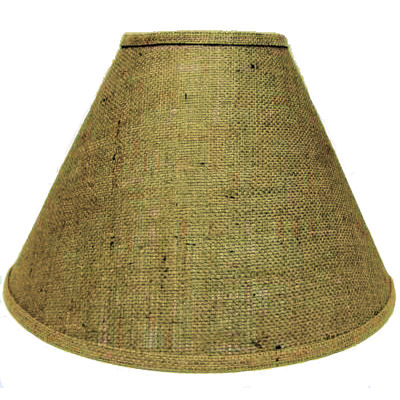 "12"" BURLAP LAMPSHADE (brass wire)"