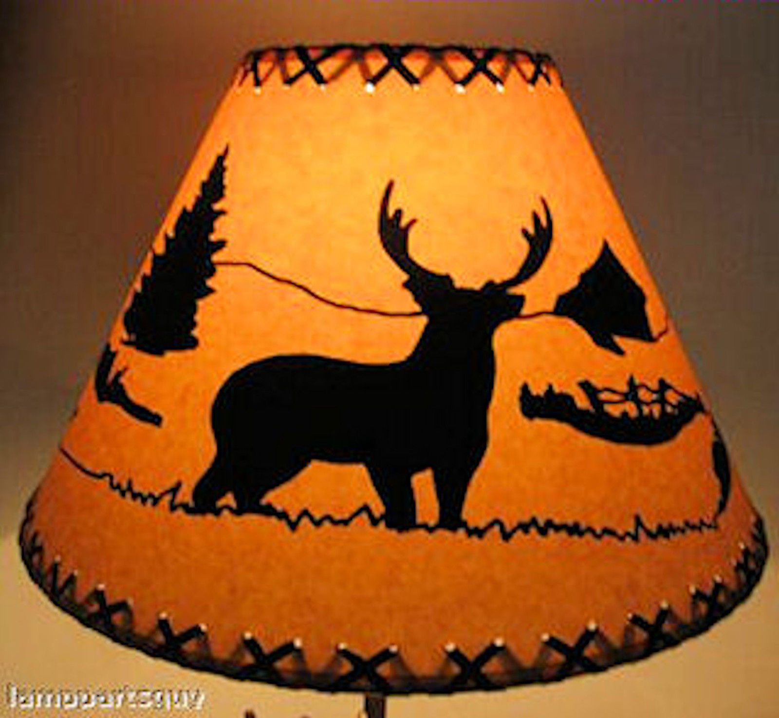 18 deer lamp shade texas lamp parts 18 deer lamp shade mozeypictures Images