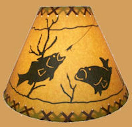 18 fish lamp shade texas lamp parts 18 fish lamp shade aloadofball Gallery
