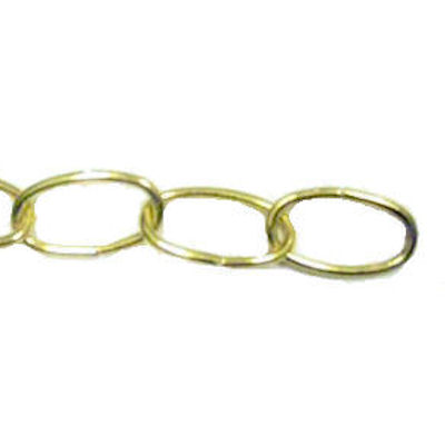 8 GAUGE POLISHED BRASS CHAIN