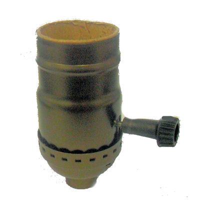 antique brass 3way socket