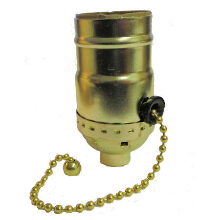 Br Plated 3 Way Pull Chain Socket