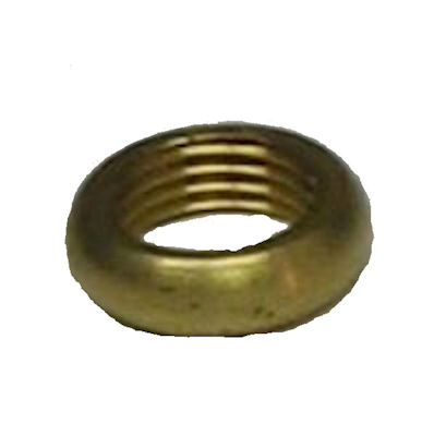 "9/16"" ROUNDED BRASS LOCKNUT"