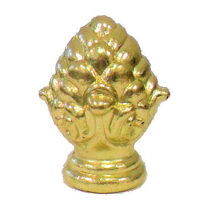 BRASS-PLATED PINEAPPLE FINIAL 1/8 IPS