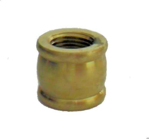 "BRASS COUPLING 1/2""X 3/8"""