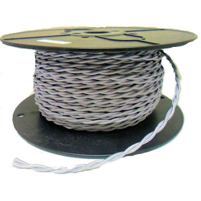 TWISTED SILVER RAYON WIRE