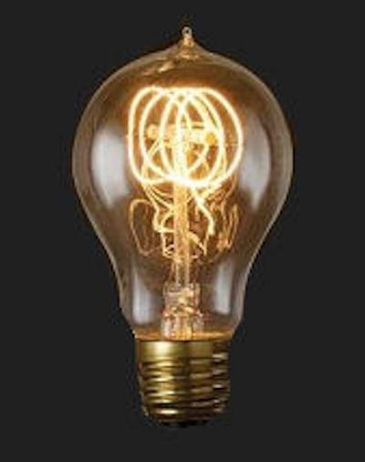VINTAGE LIGHT BULBS, Texas Lamp Parts:VINTAGE STYLE 25W QUAD LOOP,Lighting